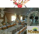 Event decoration with 3tier of wedding cake