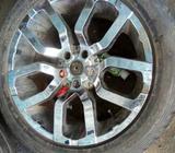 Chrom nd alloy wheel