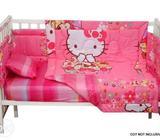 7pcs Hello kitty Baby crib bedding set