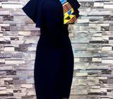 Gown with Ankara Hoghlight by LJC