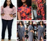 Order your Jumpsuits, Corporate two pieces and more beautiful, original and affordable ladies wears