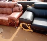 FOR SALE: Quality Black Three Seater Leather Chair