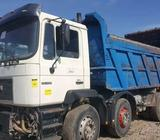 Newly arrived Tokunbo MAN twelve tyres tipper truck with superb engine