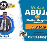 UP YOUR GAME IN MOTION GRAPHICS THIS JULY LIVE AT ABUJA