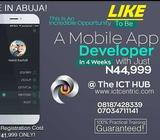 BE AHEAD OF YOUR FRIENDS IN MOBILE APP DEVELOPMENT THIS JULY, ABUJA