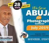 PHOTOGRAPHY TRAINING IN ABUJA THIS JULY