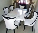Quality Marble Dining Table by 6 Seaters (Payment on Delivery)