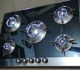 5 burners glass top built in cooker