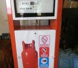 Gas dispenser pump