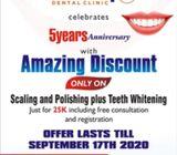 Scaling and Polishing Plus Teeth Whitening