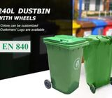 High Quality Industrial 240 Litres Wheelie bins to Keep your Environment Tidy!