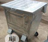 500 Liter Galvanized Metal Waste Container Anti Rust