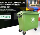High Quality Imported 1100 Litre Mammoth Waste Bin with 4 Wheels