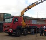 Truck crane and concrete mixer for hire