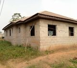uncompleted 3 bed room flat for sale at atan ogun state
