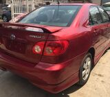 clean Toyota corolla sports
