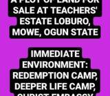 A Full Plot of Land For Sale at Teacher's Estate, Loburo, Mowe, Ogun State